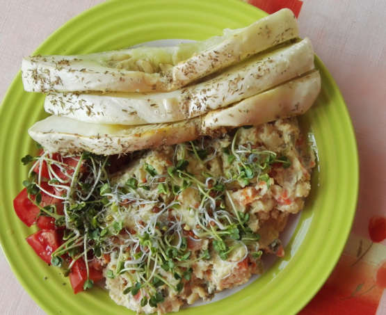 Bramborový salát s baklažánem