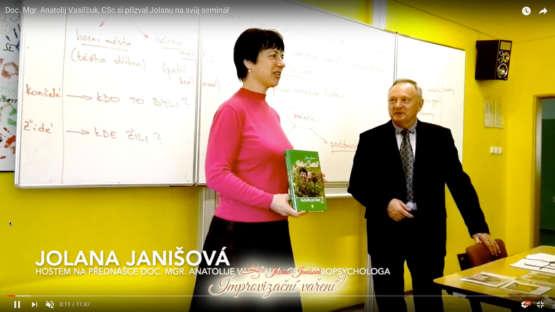 Doc. Mgr. Anatolij Vasiľčuk, CSc. si mne přizval na svůj seminář